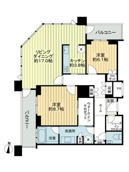 グランフロント大阪オーナーズタワーの間取図