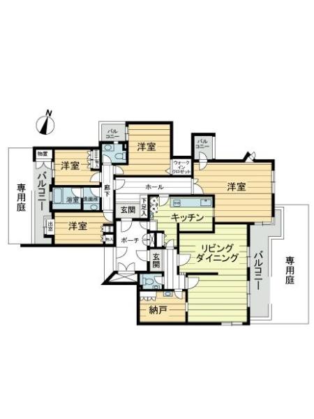 藤和横浜下永谷ホームズG棟の間取図