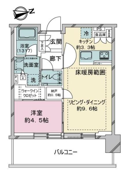 シティタワーズ東京ベイ ウエストタワーの間取図