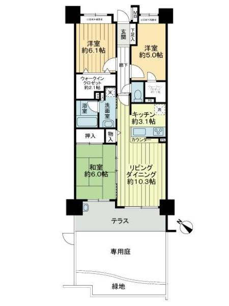 ウィズ戸田公園弐番館の間取図
