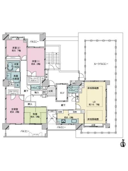 百道浜パークハウスの間取図