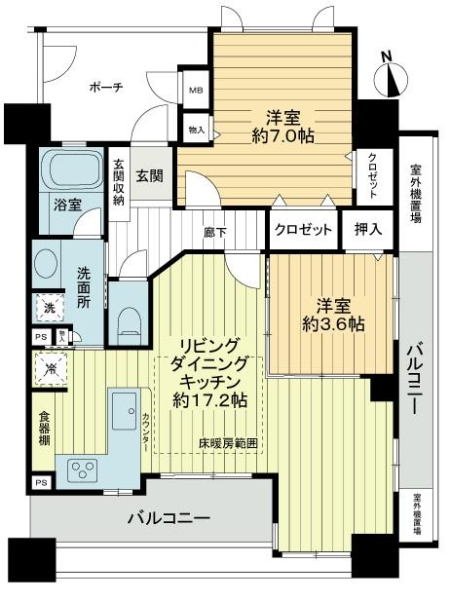 ドルフアクロス昭和町の間取図