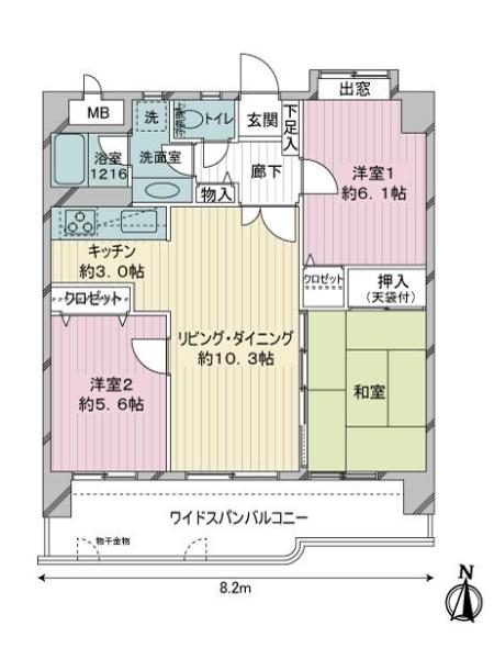 ライオンズマンション神松寺の間取図
