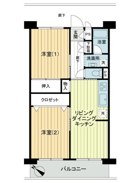 市ノ坪住宅の間取図