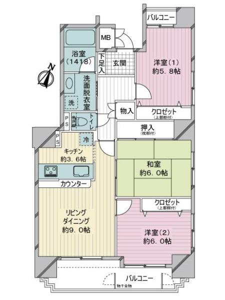 リブゼ横浜ステーションシティの間取図