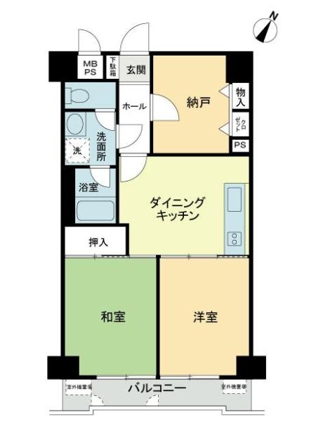 ライオンズマンション横浜大通り公園第2の間取図