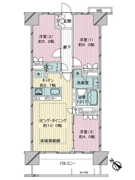 プレシス横濱新子安の間取図