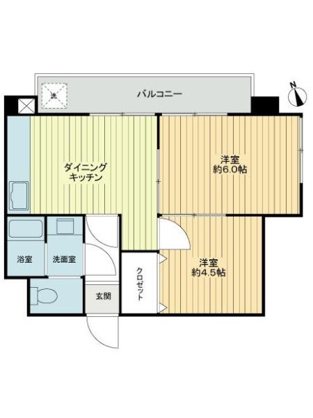 南高円寺コーポの間取図