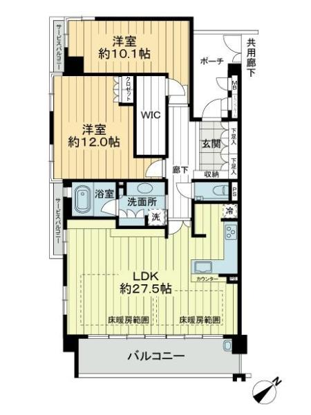 ジ・アーバネックス京都松ヶ崎の間取図