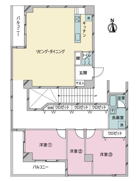 GHマンションの間取図