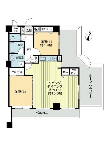 ライオンズマンション竹の塚第5の間取図