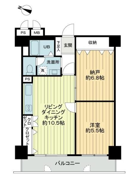 ライオンズマンション六甲道第3の間取図