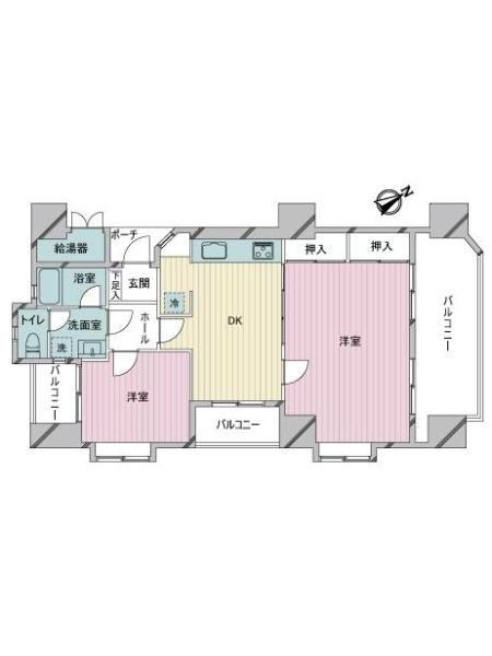 ロワールマンション大濠2の間取図
