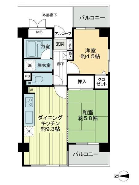 フォレステージ西早稲田の間取図