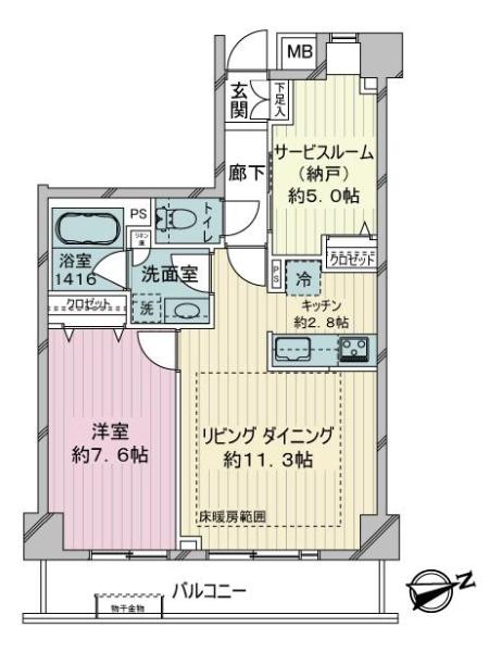 オープンヴィラ川崎の間取図
