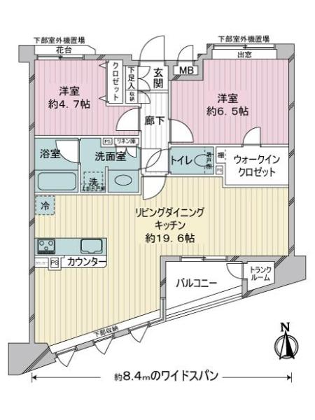 グレイス横浜ポートシティの間取図