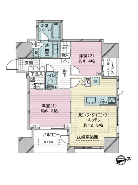 クラッシィハウス神田美土代町の間取図