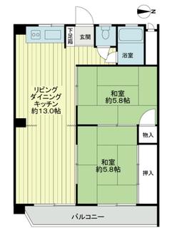 サンマンション新大阪の間取図