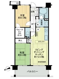 サンクレイドル西東京ウインフォ-トの間取図