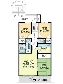 大倉山ヒルズC棟の間取図