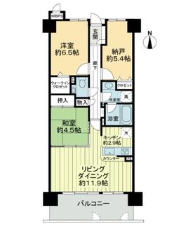 ライオンズマンション千里丘ガーデンシティの間取図