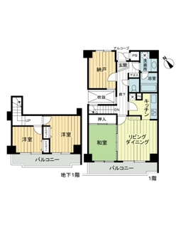 ライオンズマンション横浜南太田の間取図