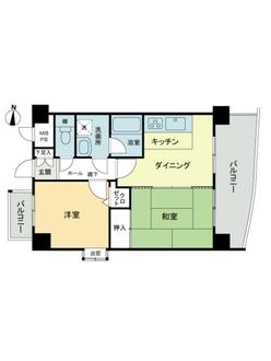 ライオンズマンション亀島第二の間取図