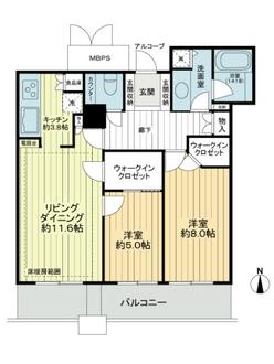 ビオール大阪大手前タワーの間取図