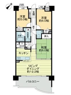 ライオンズマンション藤ケ丘ガーデンシティ1番館の間取図