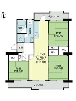 永山ハイツ5号棟の間取図
