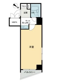 ライオンズマンション川崎駅南の間取図