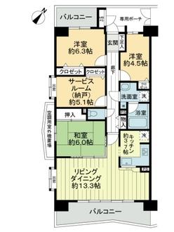 ライオンズマンション千葉グランドタワーの間取図