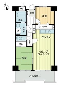 ライオンズマンションニューシティ蟹江三番館の間取図