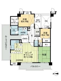 ライオンズマンション葛飾鎌倉の間取図