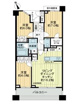 ザ・パークハウス鎌倉若宮大路の間取図
