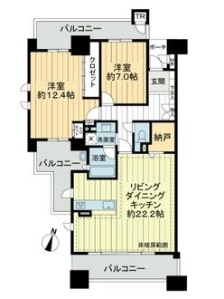 グランドメゾン勝川ネクシティウエストコートの間取図