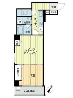マンション西新宿の間取図