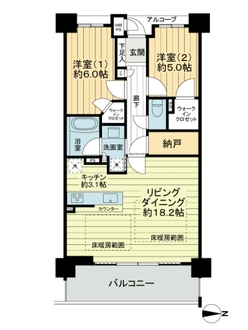 ワコーレ武庫之荘ザ・グランコンフォートの間取図