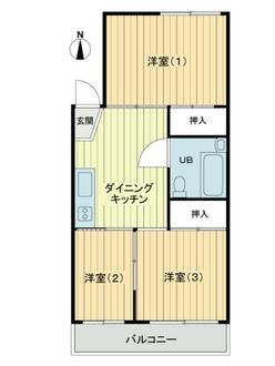 南浦和寿コーポの間取図
