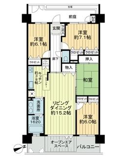 グランシティレイディアント横濱の間取図