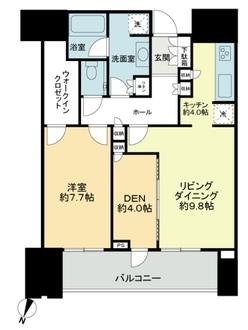 赤坂タワーレジデンス トップ オブ ザ ヒルの間取図