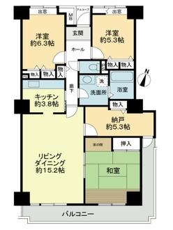 コンフォール東山田5-1号棟の間取図