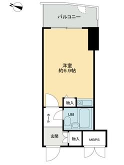 ライオンズマンション神戸花隈の間取図