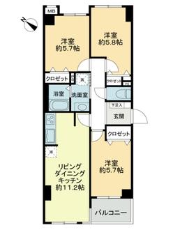 サーパス武蔵浦和第四の間取図