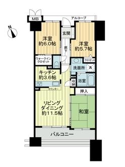 サーパス瀬戸市役所駅前の間取図