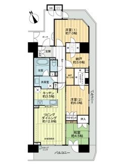 千里桃山台ヒルサイドテラスの間取図