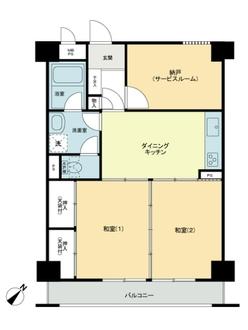ライオンズマンション横浜第弐A館の間取図