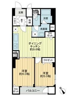 ニューミタカマンションの間取図