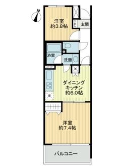 ライオンズマンション与野本町第二の間取図