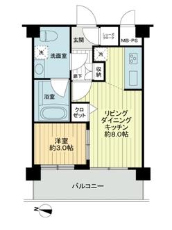 スタジオデン千川の間取図